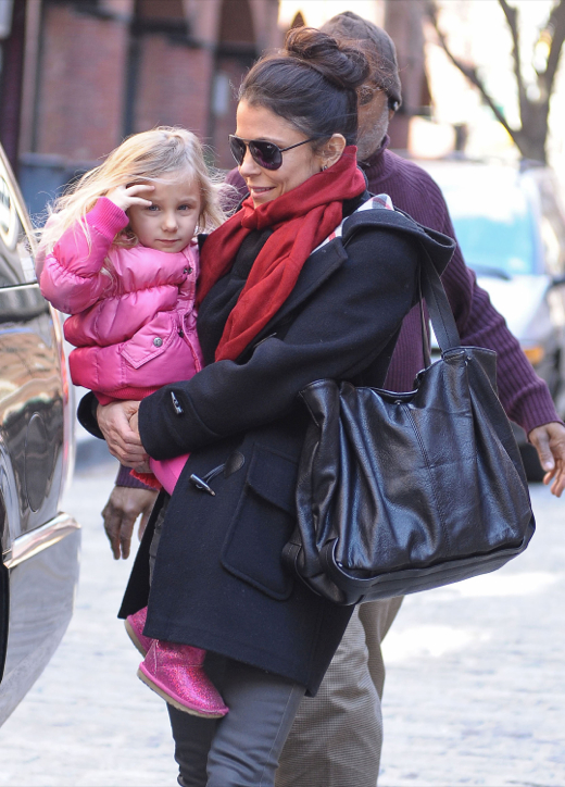 Bethenny Frankel Picking Up Bryn From School