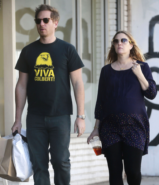 Exclusive... Pregnant Drew Barrymore & Will Kopelman Shopping In West Hollywood