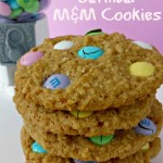 Oatmeal Cookies with Easter M&M Candies