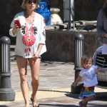 Elsa Pataky Looks Ready to Pop While Out With India