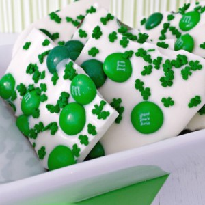White Chocolate Bark for St. Patrick's Day