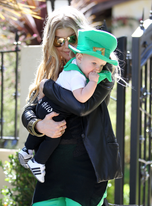 Semi-Exclusive... Fergie & Josh Take Axl To A St. Patrick's Party
