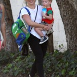 Hilary Duff Enjoys an Afternoon in the Park With Luca