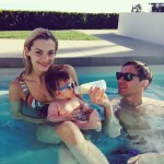 Jaime King Shares Family Pool Shot