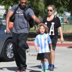 Pregnant Kendra Wilkinson Cheers on Son Hank at his Soccer Game