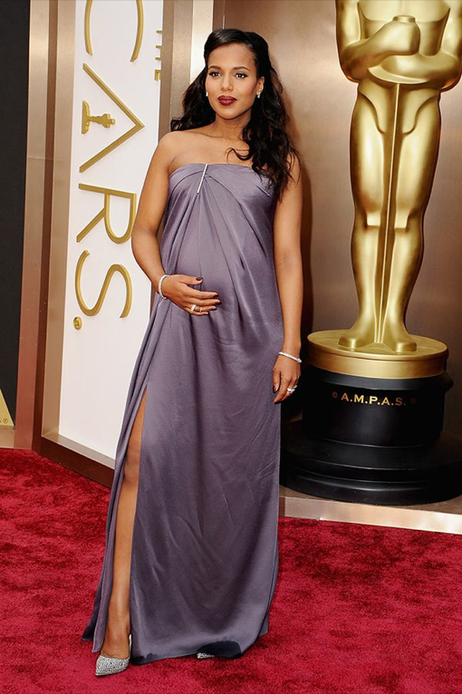 Kerry Washington Glows While Walking the Oscars Red Carpet