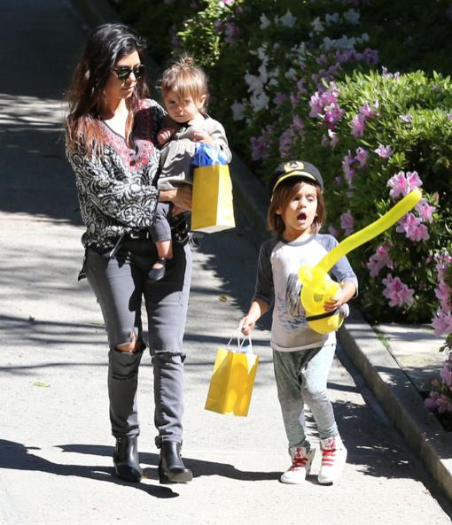 Kourtney Kardashian: Saturday Party With Mason & Penelope