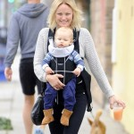 Malin Akerman's Smiley Day With Sebastian