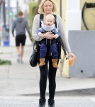 Malin Akerman Goes For A Walk With Sebastian