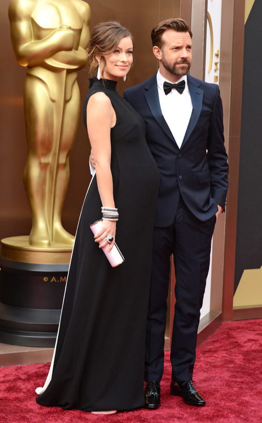 Pregnant Olivia Wilde Stuns In A Black Valentino Gown Celeb Baby