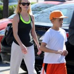 Reese Witherspoon & Deacon Hit the Gym