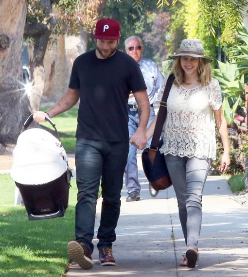 Teresa Palmer & Mark Webber Take Bodhi For Check-Up