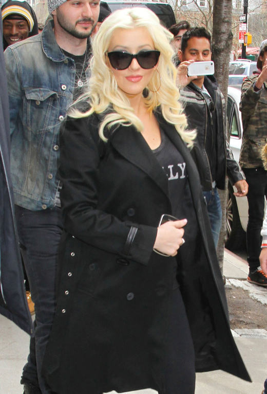 Christina Aguilera Bumps in NYC
