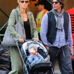 Elizabeth Berkley Strolls With Family in the Big Apple