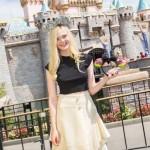 Elle Fanning Visit's Sleeping Beauty's Castle