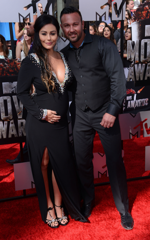 Jenni JWoww Farley Glows While Walking the MTV Movie Awards Red Carpet