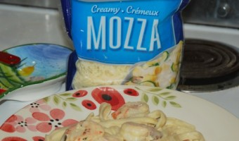 Alfredo Shrimp Linguine & Kraft With a Touch of Philadelphia #MemorableMelts