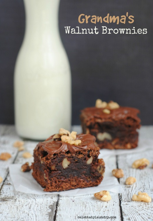 Grandma's Walnut Brownie #Brownie
