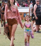 Alessandra Ambrosio Enjoys Coachella With Her Daughter