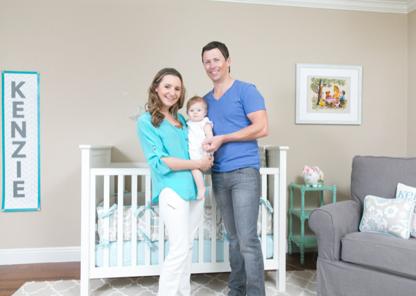 Beverley Mitchell Shows Off Kenize's Nursery