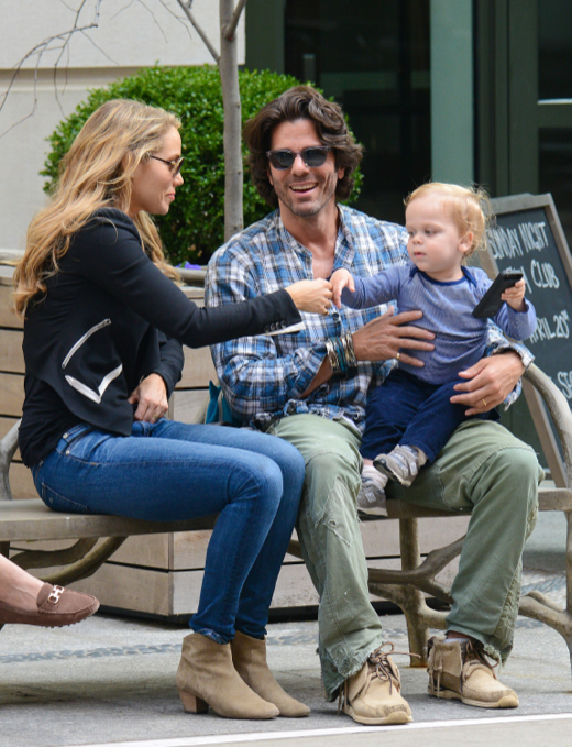Elizabeth Berkley Visits The Park With Her Family