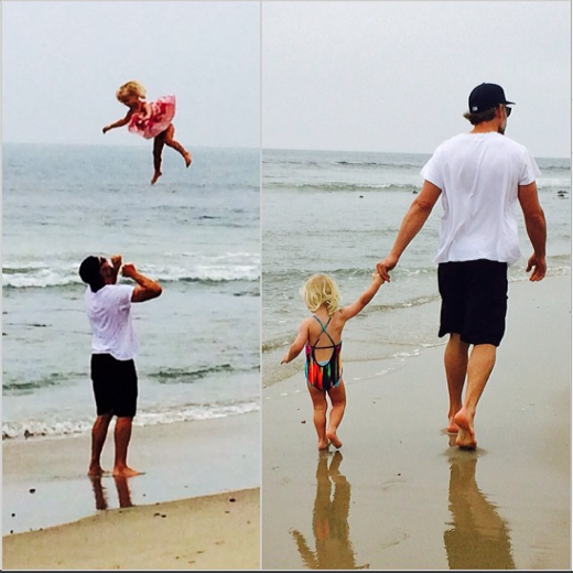 Eric Johnson & Maxwell at the Beach