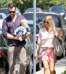 Josh Duhamel & Fergie Head To Church For Easter Sunday