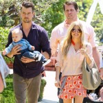 Fergie & Josh Duhamel Take Baby Axl to Easter Sunday Service
