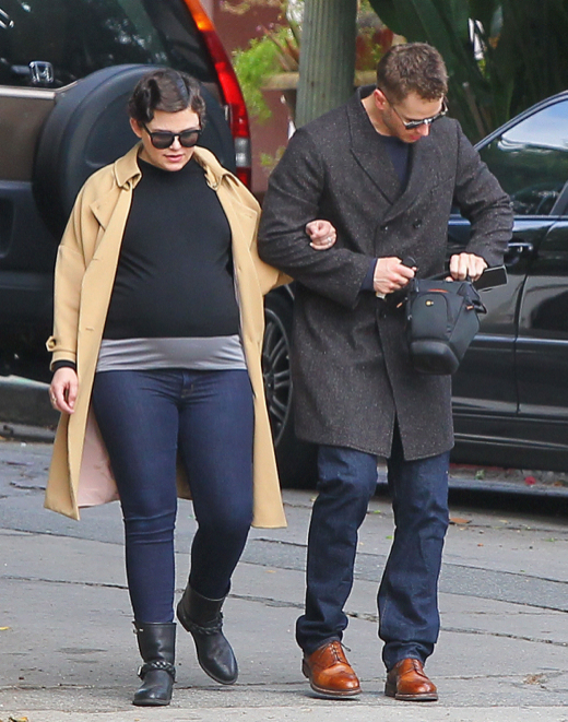 Pregnant Ginnifer Goodwin & Josh Dallas Head To A Family Get-Together