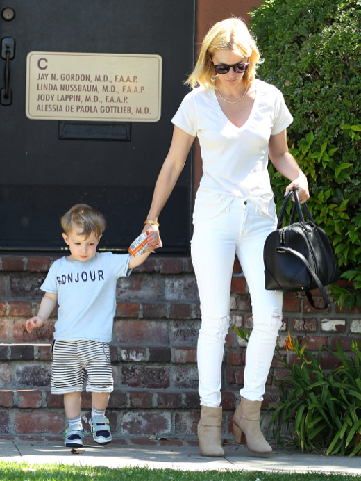 January Jones Takes Xander For a Checkup