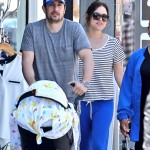 Jason Biggs Lunches With His New Baby Boy