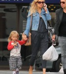 Exclusive... Kate Hudson & Son Bingham Leaving A Restaurant After Lunch