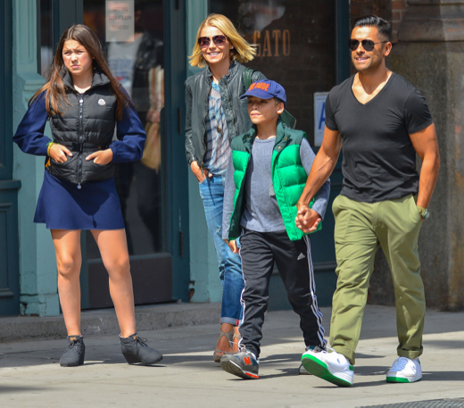 Kelly Ripa & Family Out For Lunch In New York City