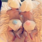 Kim Zolciak's Adorable Twin Easter Bunnies