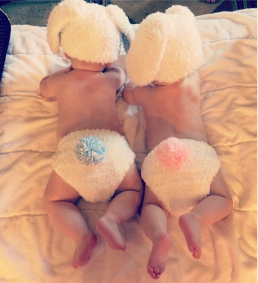 Kim Zolciak Shares Easter Photo of Kane and Kaia