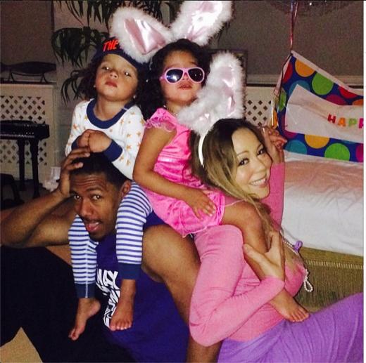 Mariah Carey Shares Family Easter Portrait