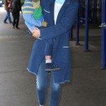 Miranda Kerr Carries Her Laughing Boy