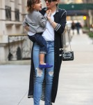 Miranda Kerr Heads To Dinner With Flynn