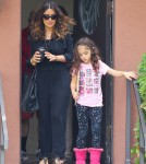 Semi-Exclusive... Salma Hayek Leaving A Medical Building With Her Family