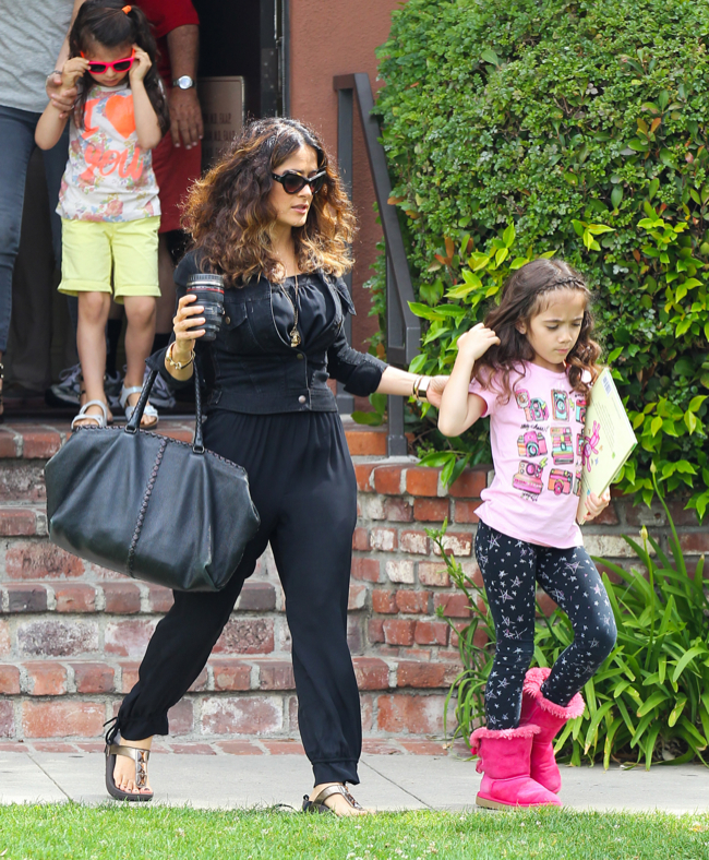 Salma Hayek: Mommy Duties With Valentina