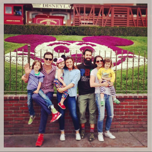 Tiffani Thiessen at Disneyland With Family