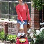 Alessandra Ambrosio Strolls With Noah