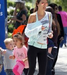 Exclusive... Alessandra Ambrosio Running Errands With Her Daughter