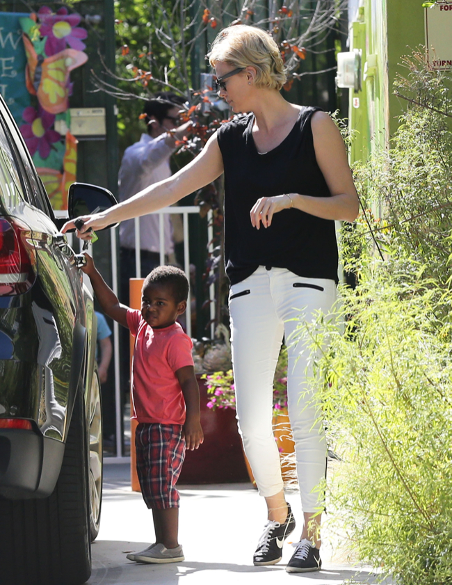 Exclusive... Charlize Theron Out And About With Jackson