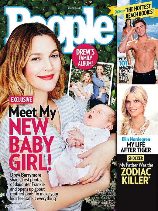 Drew Barrymore Debuts Daughter Frankie