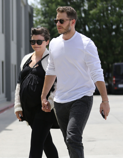 Pregnant Ginnifer Goodwin & Josh Dallas Visit A Medical Building