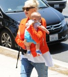 Gwen Stefani & Family Head To A Party