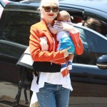 Gwen Stefani Takes Her Boys to a Sunday Party