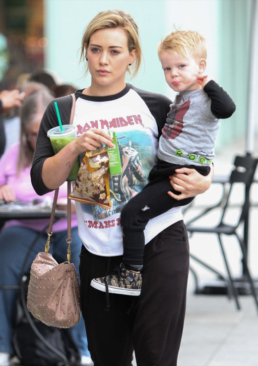 Hilary Duff Takes Luca Out For Breakfast