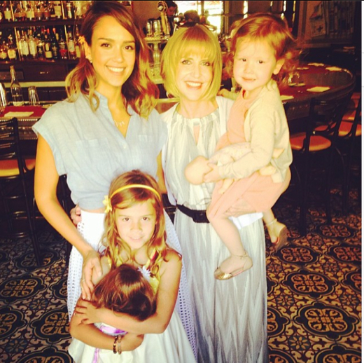 Jessica Alba Celebrates Mother's Day With her Mom & Children